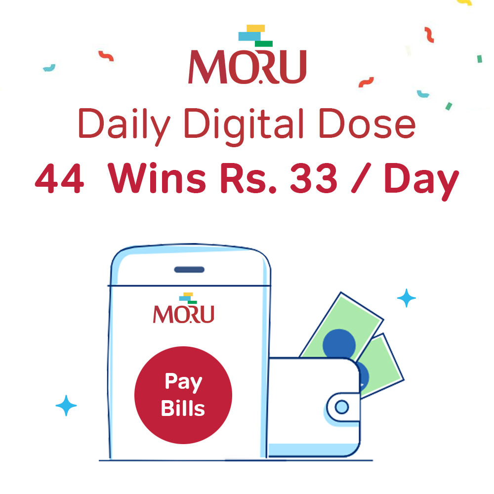 DAILY DIGITAL DOSE: 44 Wins Rs. 33/Day